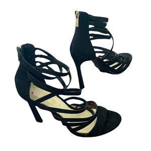 Black Jessica Simpson Strappy Stiletto Sandals /Sz 10/ EUC! Super sexy!